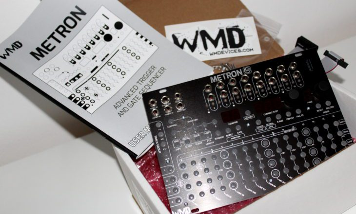 WMD METRON TRIGGER GATE SEQUENCER AMAZONA TEST USERBILD AUSGEPACKT