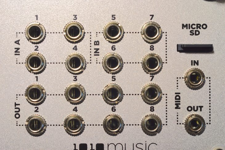 1010music BitBox Micro - Patch-Feld