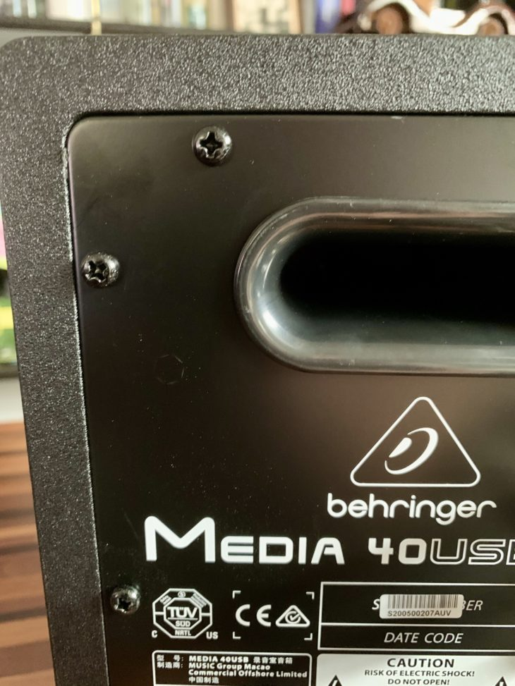 Behringer_Media 40USB_Detail_Back