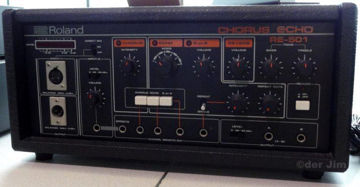 Eines der letzten traditionellen Bandechogeräte - Das Roland RE-501