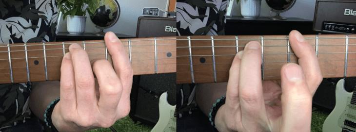 E-Gitarre für Einsteiger A-Akkord
