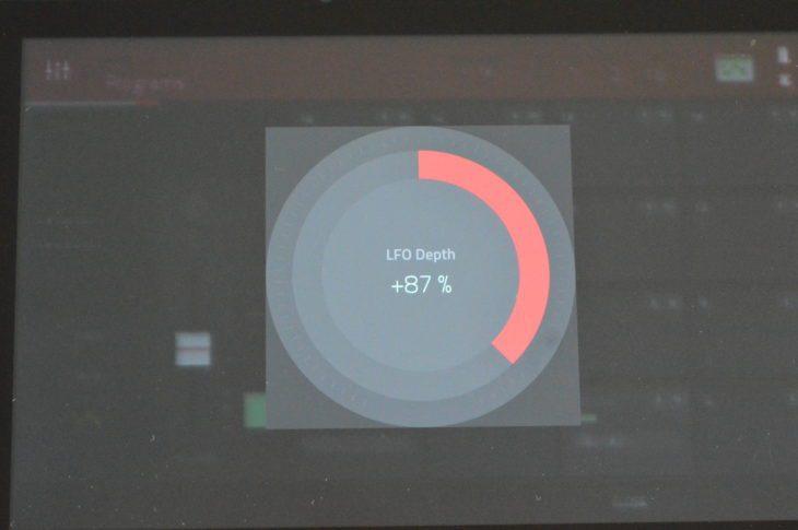 AKAI MPC LIVE II - Durch Doppelklick bekommt man eine Großansicht eines Parameters