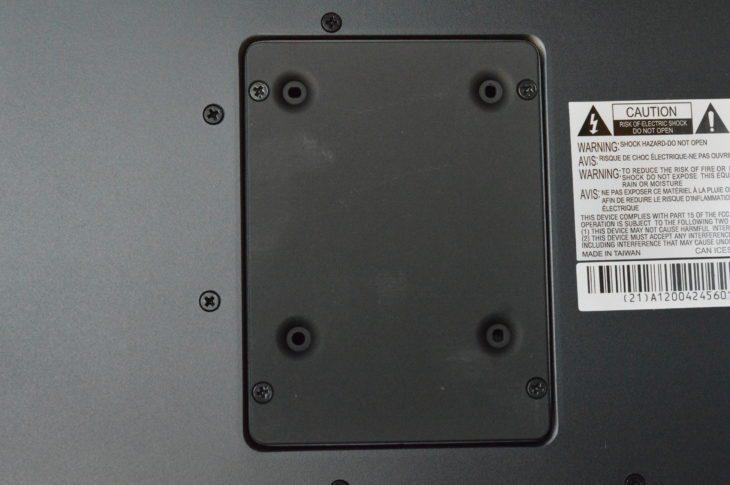 Hier kann eine HD eingebaut werden um den internen Speicher (16 Gb) zu erweitern