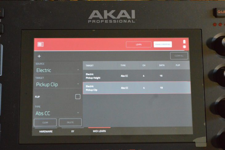 MIDI-Learn-Funktion für externe MIDI Controller