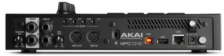 Akai MPC One rear