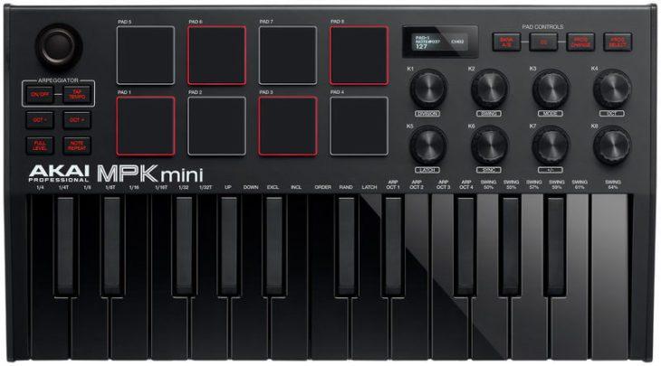 akai mpk mini mk3 2 black test