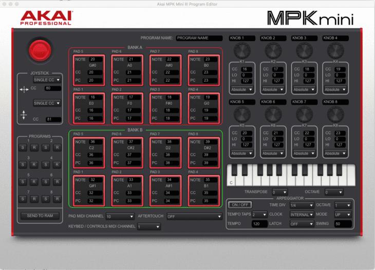 akai mpk mini mk3 editor software test