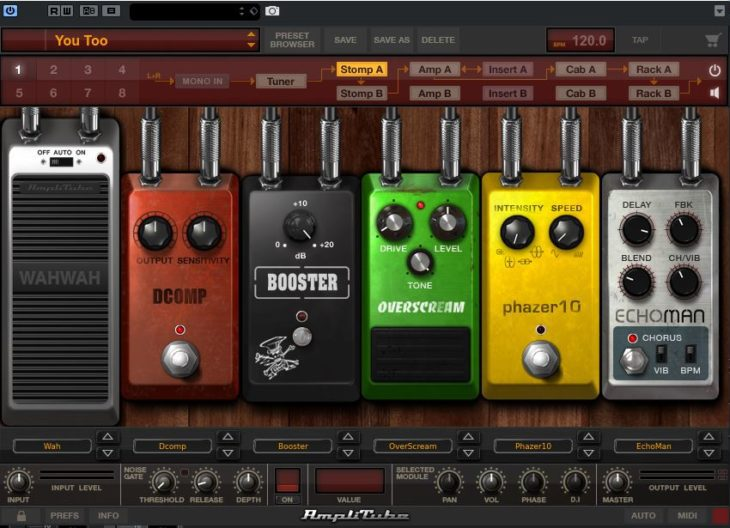 Amplitube Max Stomp Section