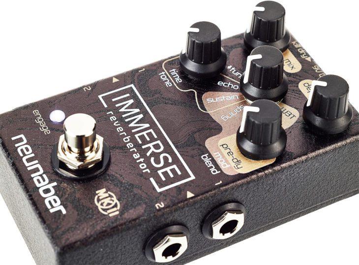 Klangvergleich Stereo-Reverb-Pedale Gitarre Synthesizer
