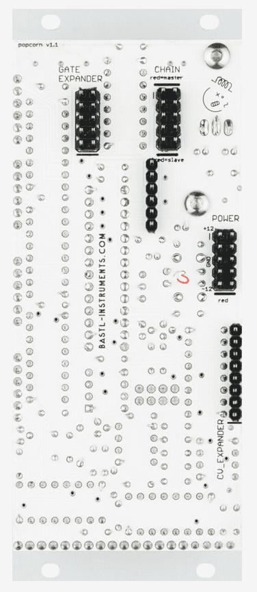 Bastl Instruments Popcorn - Rückseite mit Erweiterungsanschlüssen