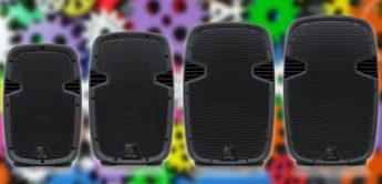 Behringer PK108 bis PK115A: Neue PA-Boxen mit Digitalmixer und Bluetooth