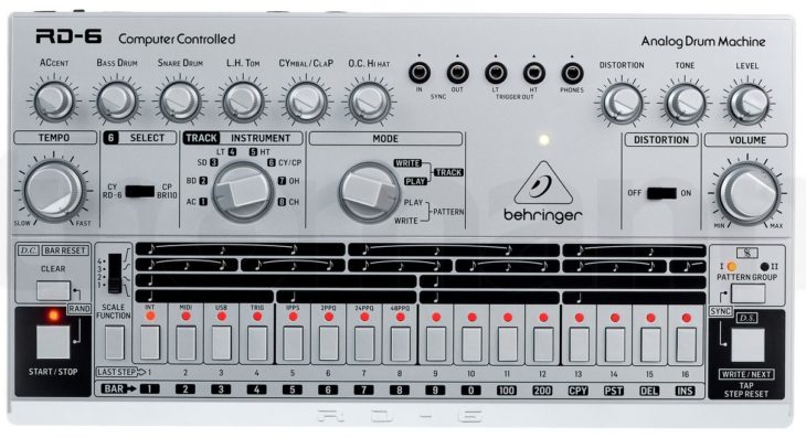 Behringer RD-6 Analog Drum Machine silver