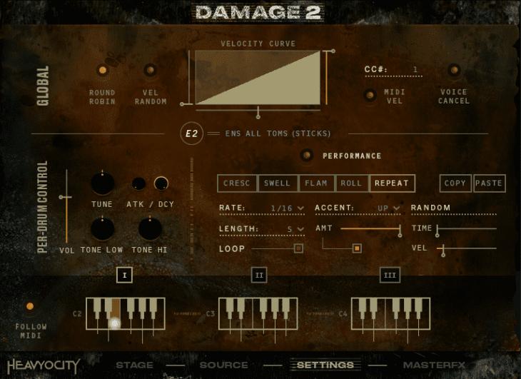 Damage 2 - Ensemble Designer (Settings)