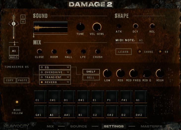 Damage 2 - Kit Designer - Settings