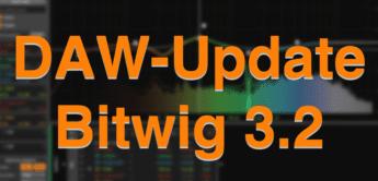 DAW-Update: Bitwig 3.2 bietet neue EQ, Saturation Plugins