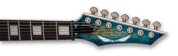 Dean Guitars Exile Select 7 String Matched Headstock