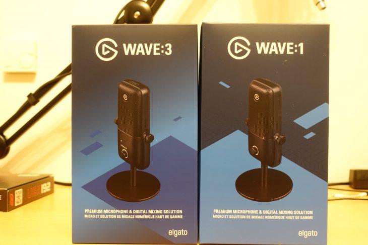 Elgato Wave 3 und Wave 1 Verpackungen