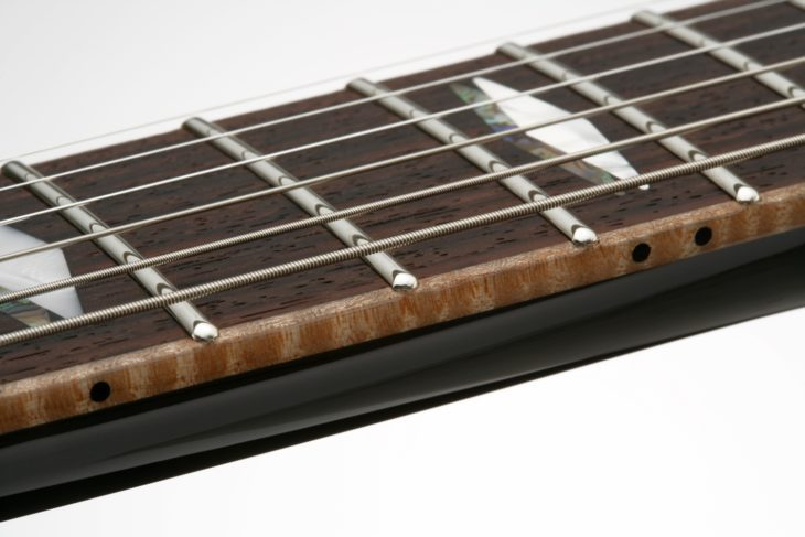 FGN Guitars Expert Flame E-Gitarre Griffbrett