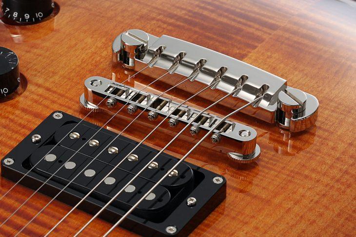 FGN Guitars Expert Flame E-Gitarre Tailpiece