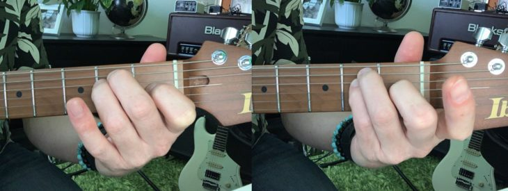 E-Gitarre für Einsteiger E-Dur Fingersatz