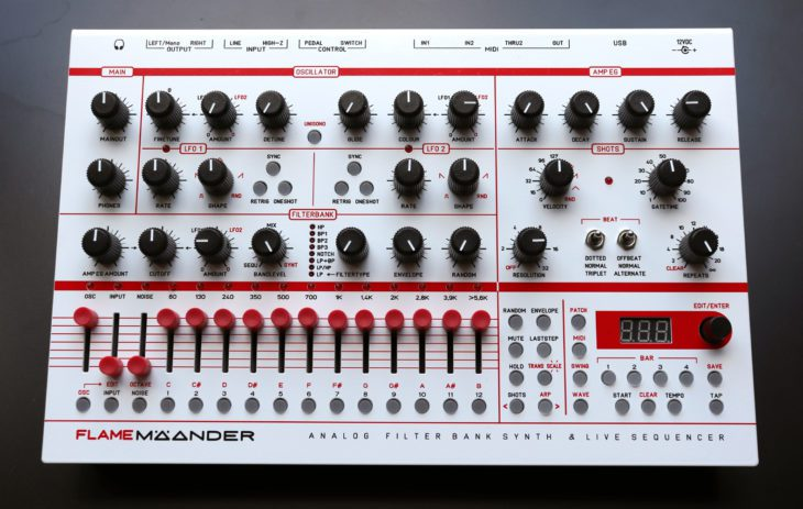 Flame Mäander Wavetable Synthesizer