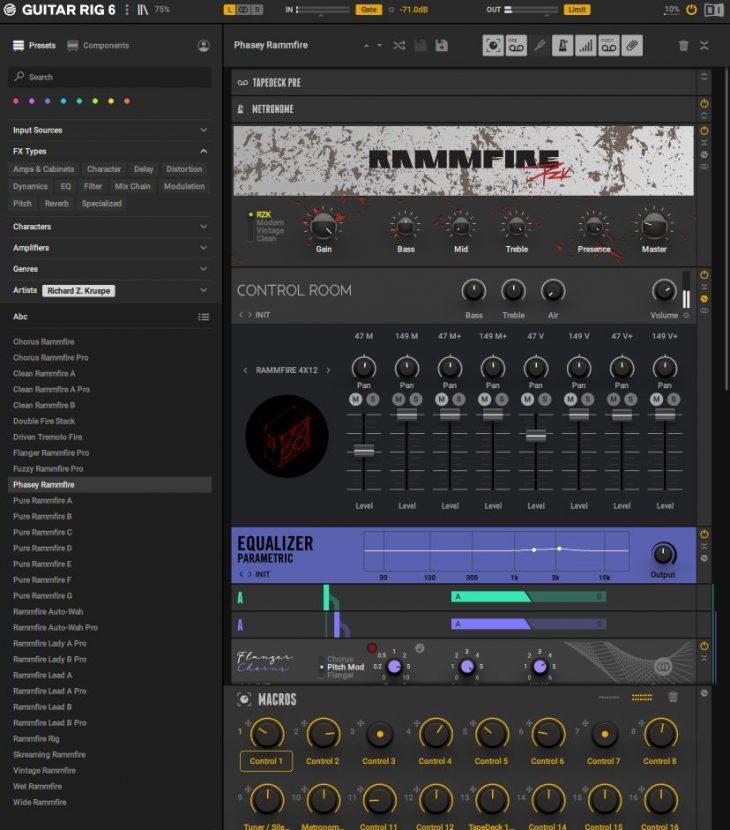 Guitar Rig 6 Rammfire