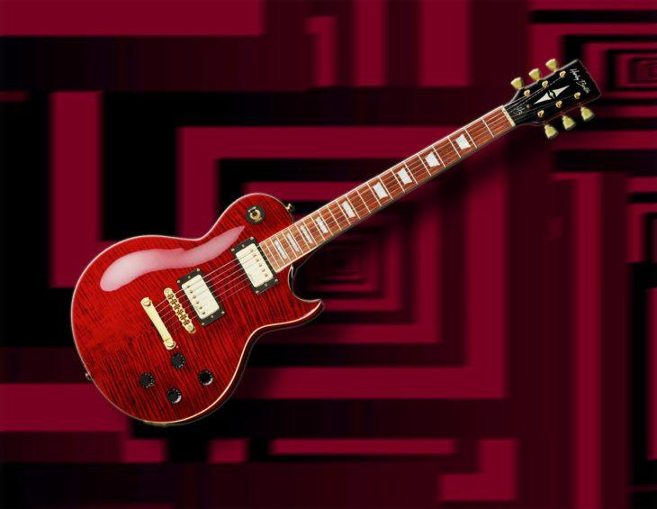 Harley Benton SC-550 Black Cherry Flame E-Gitarre