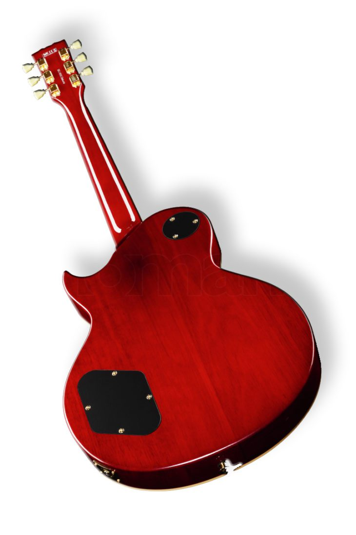 Harley Benton SC-550 Black Cherry Flame E-Gitarre backside