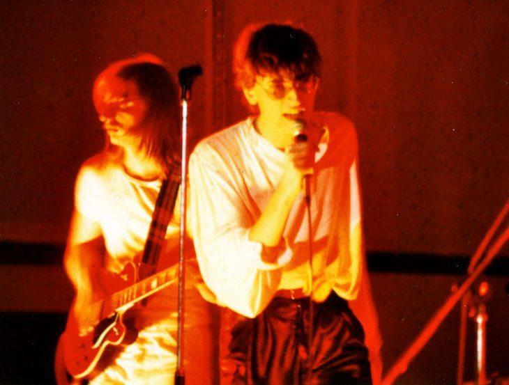 Stefan Deubel und Costello auf der Bühne