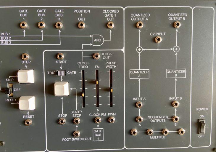 Die rechte Seite des ARP 1601-Panels