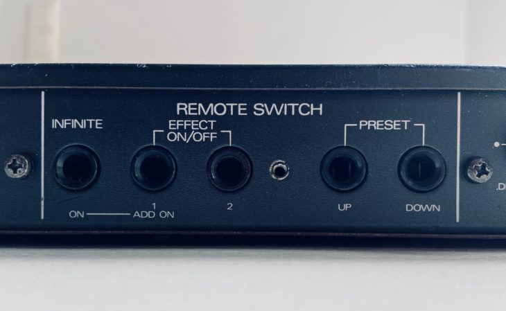 Das Roland SRV-2000 besitzt 5 Anschlüsse für Fußschalter