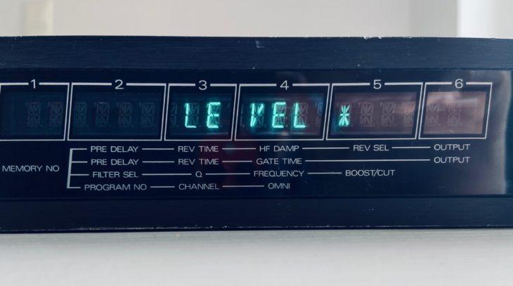 Gestochen scharf: Das Display des Roland SRV-2000