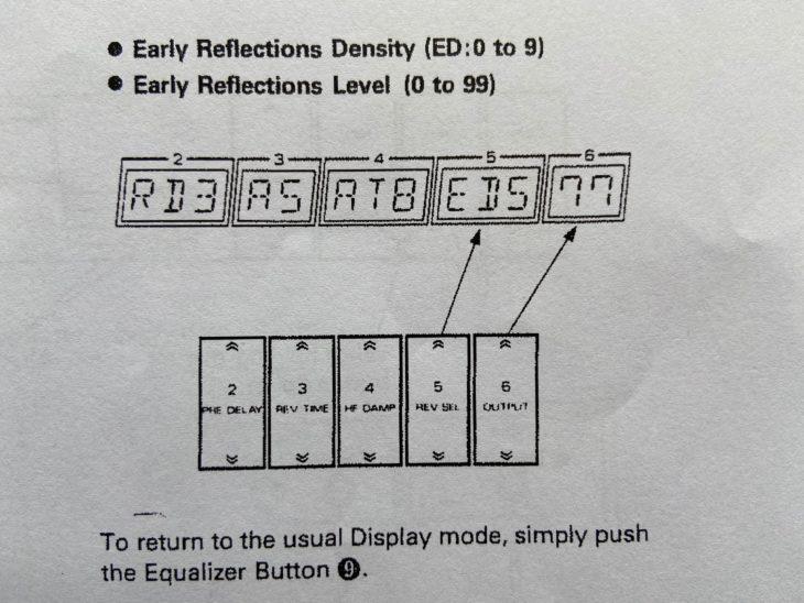 Die Schalterzurodnung des Roland SRV-2000 im erweiterten Modus.