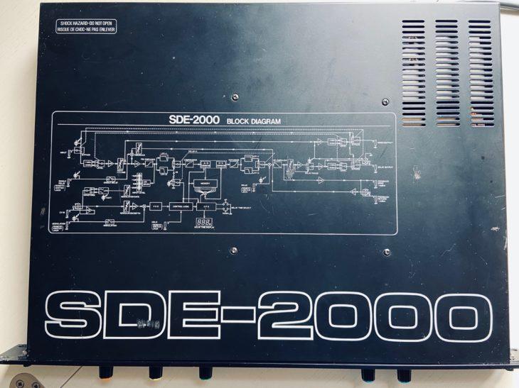 Die Draufsicht auf das Roland SDE-2000