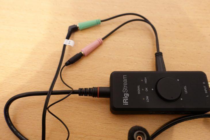 iRig Stream mit Y-Adapter