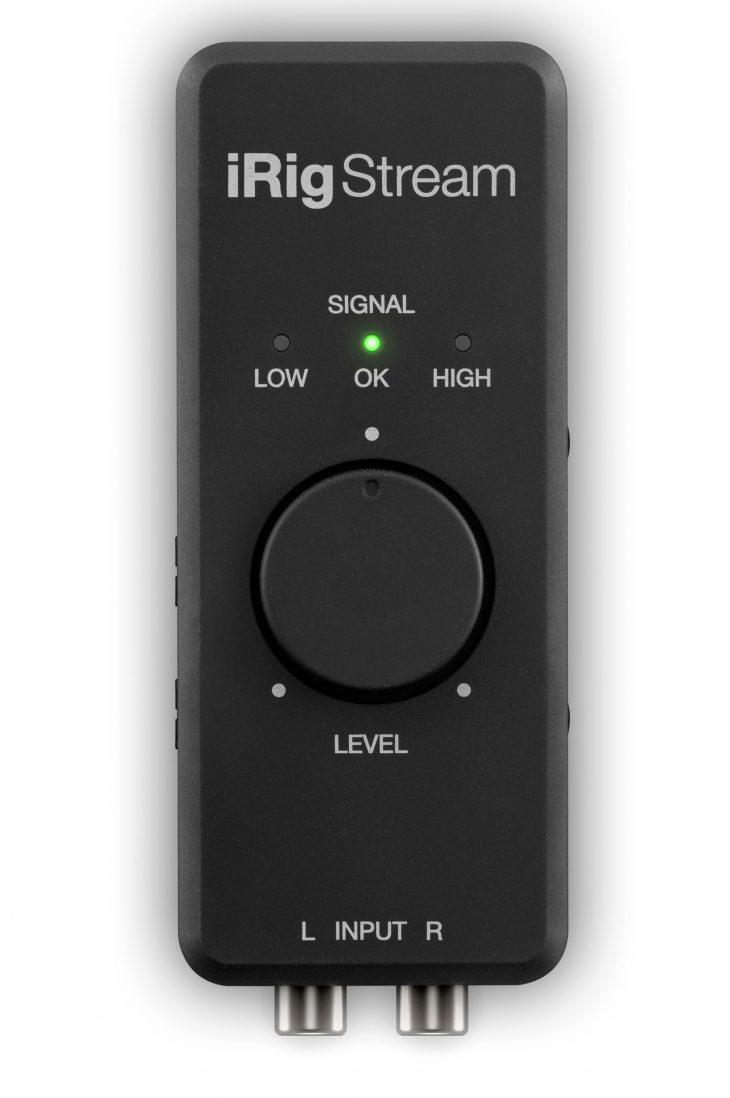 test ik multimedia iRig Stream Oberseite