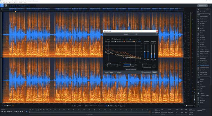 iZotope RX 8 Spectral Denoise