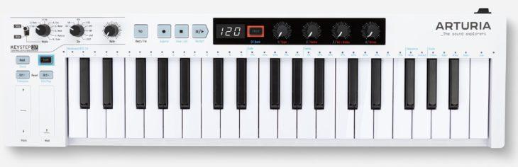 arturia keystep 37 midi controller keyboard