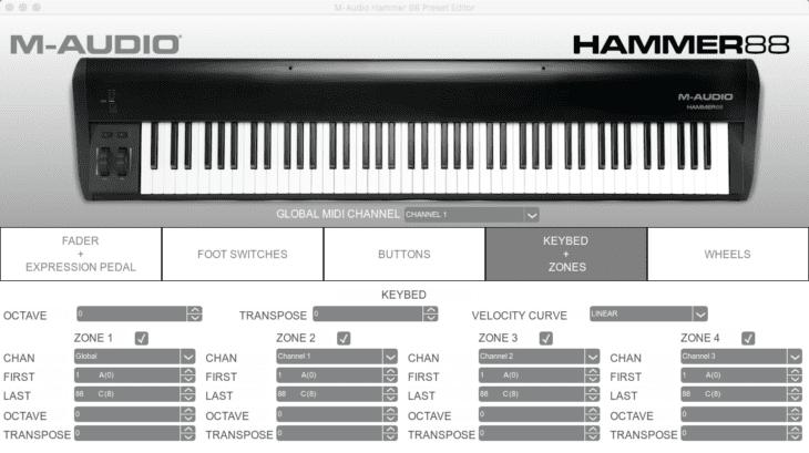 m-audio hammer 88 test software editor 2