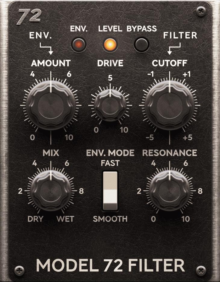softube model 72 filter amp room