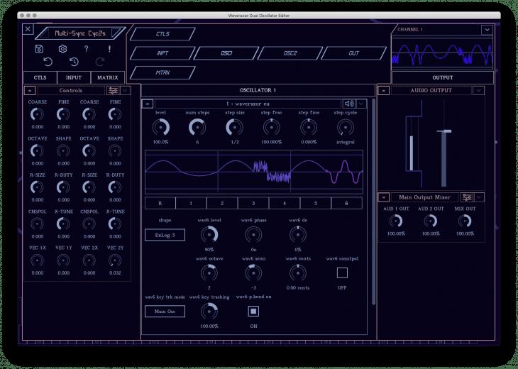 MOK Waverazor Dual Oscillator - blackmarket Editor Wavesequenz
