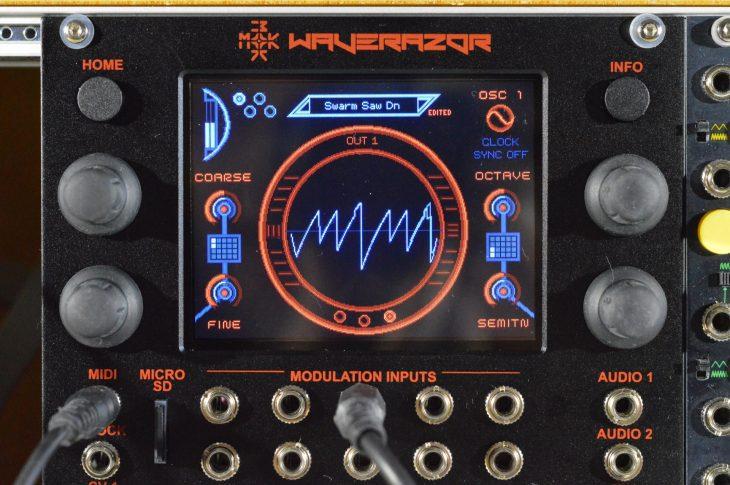 MOK Waverazor Dual Oscillator - ein typischer Sägezahnschwarm