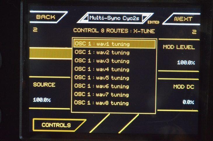 MOK Waverazor Dual Oscillator - wave tuning einzelner slices