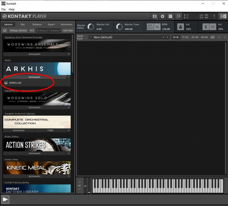 Native Instruments Arkhis, Orchester Library Plug-In