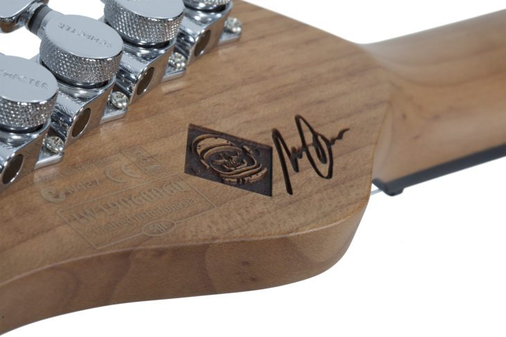 Schecter Nick Johnston Traditional HSS Headstock
