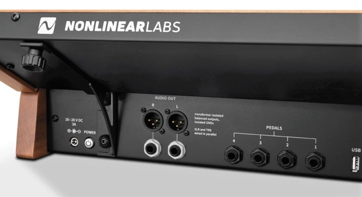 Nonlineare Labs C15 synthesizer rear