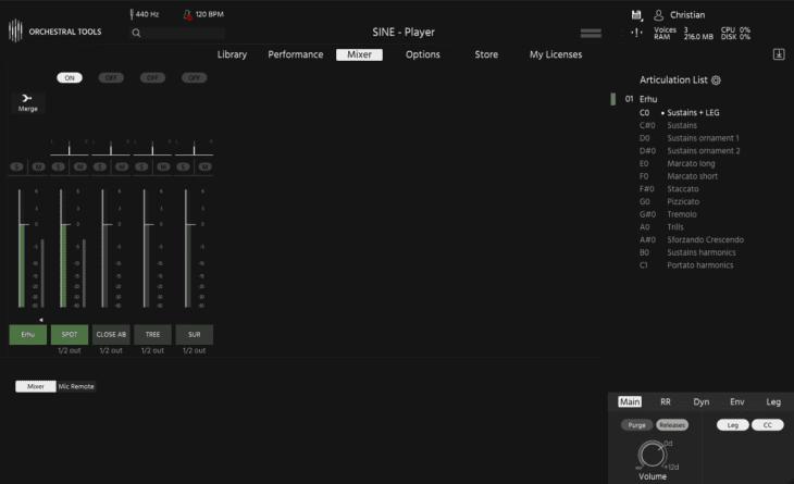 Orchestral Tools - Phoenix Orchestra - Mixer