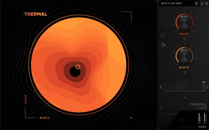 Clean, modern, stufenlos skalierbar und mit einer tollen grafischen Visualisierung des XY-Controllers präsentiert sich Thermal von Output.