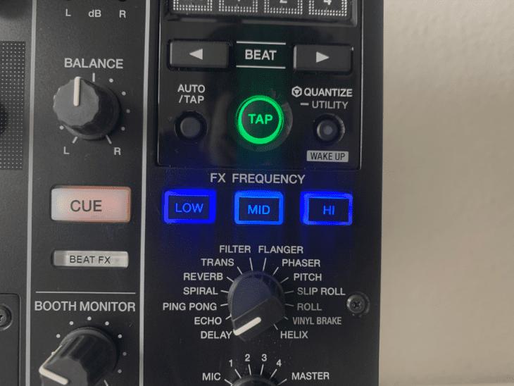 FX-EQ beim Pioneer DJM-900NXS2 EQ via Buttons.