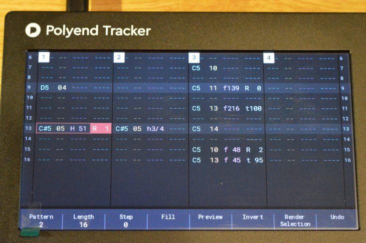 Der Pattern Editor ist die Schaltzentrale des Polyend Trackers